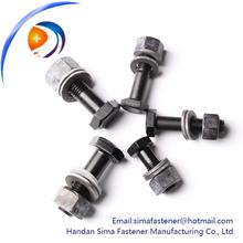 Alta resistencia a la tracción grado 10.9 hexagonal acero estructural perno