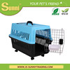 Health pet carrier plastic dog kennels with wheels