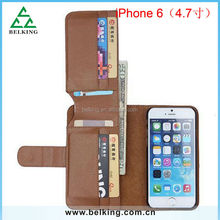 4.7inch!!! Multi Function Wallet Card Horder Flip Leather Case for iPhone 6 PU Leather Case