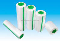 hot selling cheap HDPE/LDPE dispoasble flat transparent plastic on roll with logo