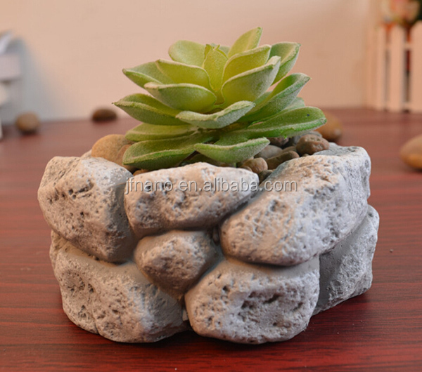 Decoraci n del hogar de piedra macetas y jardineras - Jardineras de cemento ...