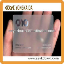 2014 New Product Contactless RFID PVC Transparent Visiting Card