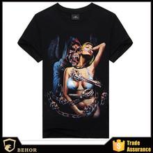 Foreign trade for export Men's short sleeve T-shirt in summer The devil beauty printed 3 dt T-shirt Men's short sleeve order