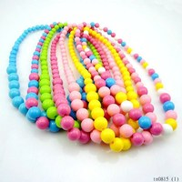 Handmade colored statement beads kids necklace