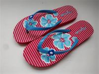 Lateste flower design cheap rubber flip flops wholesale beach slipper