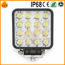 One Year Warranty High Intensity Square flood 48w 9 ~ 32v led offroad light for 4WD