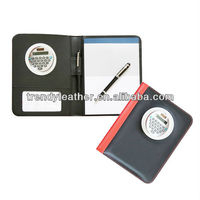 A5 leather personal organizer with calculator