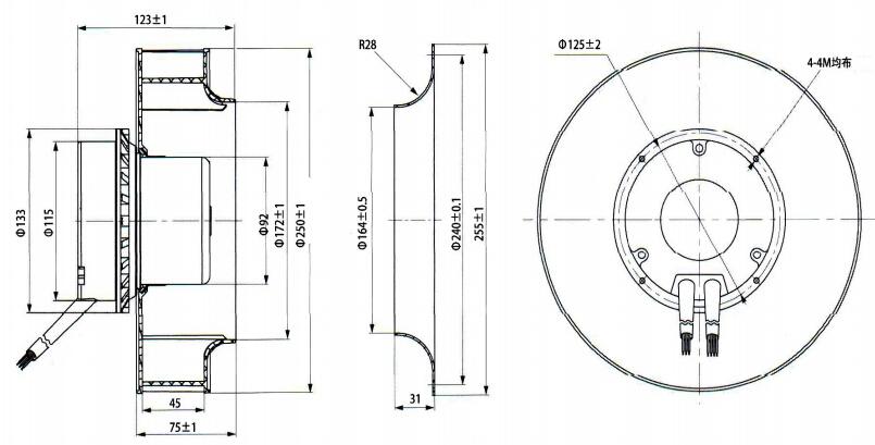 eco electrical small ac dc ec industrial centrifugal fan
