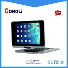New arrival best hotselling bluetooth keyboard for Ipad mini, 360 swivel
