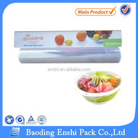 Static cling vinyl film for food packaging