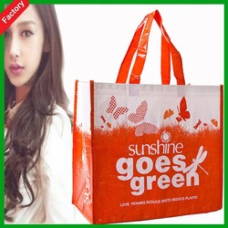JNbags personalized grocery tote bags Full printing glossy lamination pp non woven shopping bags
