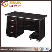 Modern melamine metal frame wood computer table models with good price