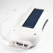 Super fast cellphone solar battery charger 5V/800MAh also can be a radio and flashlighting