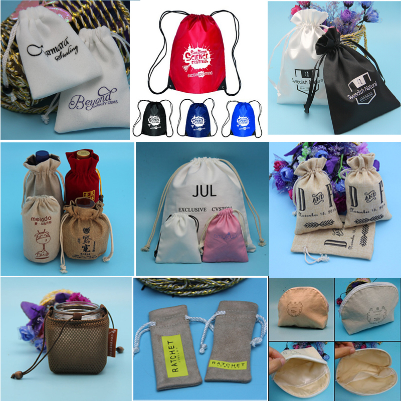 2015 best selling China factory supplier promotional drawstring gift pouch bag