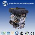 15hp dois cilindros diesel do motor da motocicleta