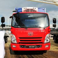 China supplier FAW 4x2 light duty van refrigerated cargo truck Iran truck
