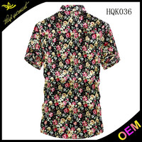China supplier new stylish mens short sleeve shirts with fancy design