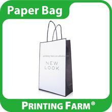 Taiwan Wholesale White Kraft Paper Gift Bag