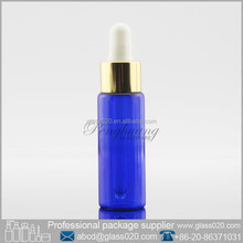 Empty Blue Painting Glass Vials With Dropper Caps 1oz For Cosmetic Oil