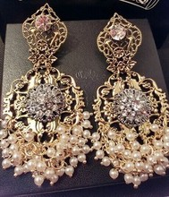 fashion earring images of pearl jewelry NSER-14649