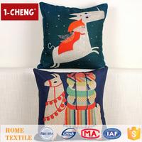 Hot Sale Creative Fashion Christmas Design Printed Pillow Home Decor Cushion Pillow,Square Cartoon Gifts Throw Pillow Cover