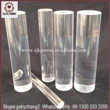 Acrílico claro vara y claro de acrílico barra de la burbuja, de plástico transparente varilla
