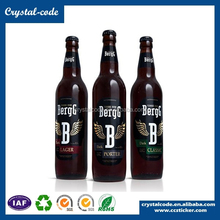 Paper label printed permanent adhesive waterproof vial label for glass