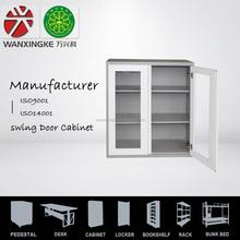 glass swing door file cabinet steel cabinet