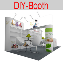 custom easy to assemble portable modular trade show display booth design with graphics