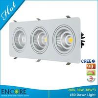 LED Downlight Light Factory Wholesale 30Watts Triac Dimmable 4000K 60Degrees LED Swivel Downlight