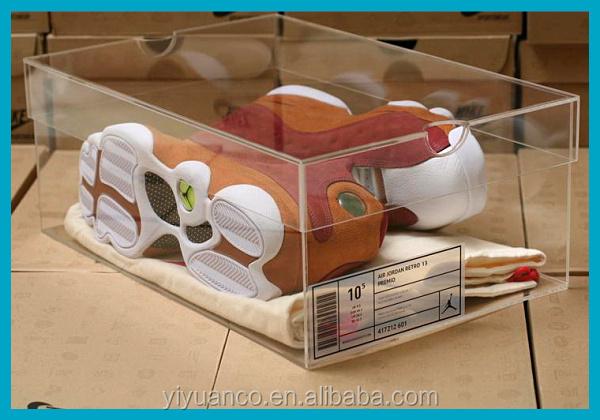 360 grau affichage sneakers acrylique hup bo te - Boite acrylique transparente ...