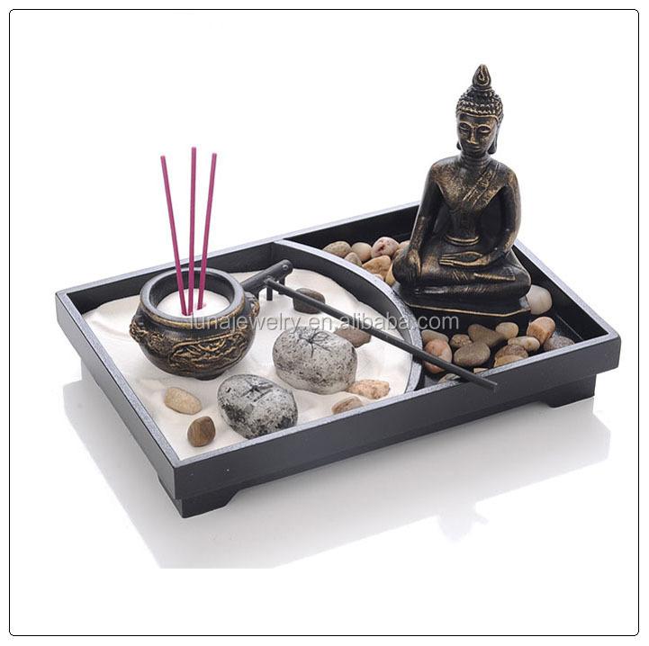 Resina jard n zen para la decoraci n del hogar de alta calidad moderna de lujo mini jard n zen for Jardin japonais miniature interieur