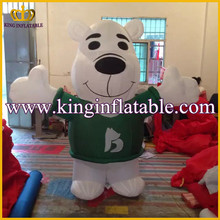 Professional Factory Inflatable Bear Walking Costume For Adults, Inflatable Teddy Bear Cartoon