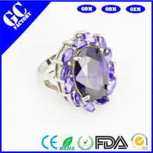 Amethyst wreath engagement ring fashion men's and women's valentine's day gift