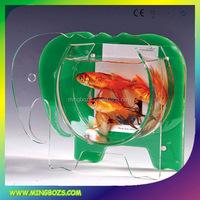 Custom design small oval acrylic aquarium