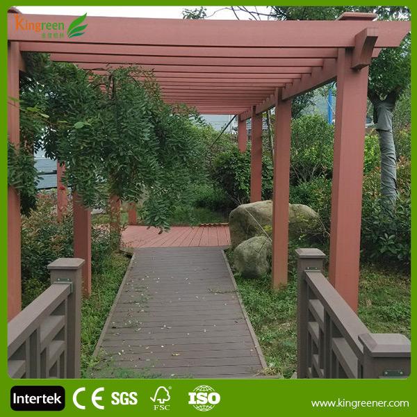 Terrasse ext rieure aluminium tanche lectrique pergola lectrique mobile lame arches pavillon - Bedekt hout pergola ...