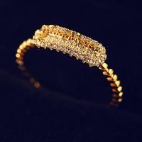 18k fashion jewelry diamond 2 gram gold ring