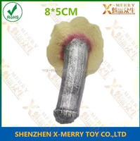 X-MERRY dickhead metal color silver pennis scar 8*5CM nasty and evil props for prank party show