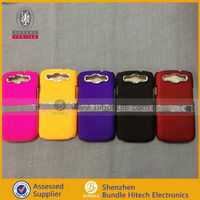 Top Quality Metal Stand Holder Hard Plastic Case for Samsung Galaxy S3 S III i9300