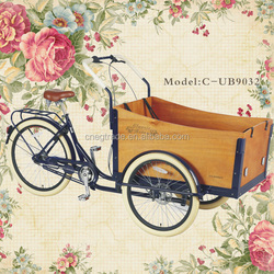 Disc brake tricycle cargo 7speeds two front passenger tricycle wheels cargo bikes/the bicycle/cargo tricycle/cargobike UB9032
