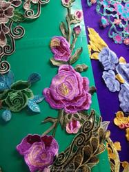 new season fashion cloth design European style embroidered appliques