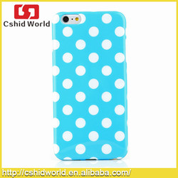 """Colorful Soft TPU Back Skin Pouch Polka Dots Cover Case for iPhone 6 Plus 5.5"""""""