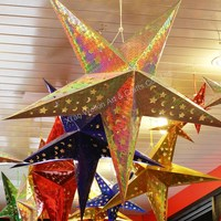 Factory make a star paper lantern for christmas decoration