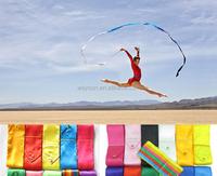 100pcs mix color 4M Gym Dance Ribbon Rhythmic Art Gymnastic Streamer Baton Twirling Rod DHL Freeshipping