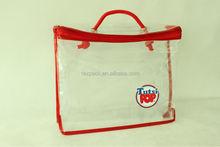 2015 Christmas gift package clear vinyl pvc zipper blanket bags