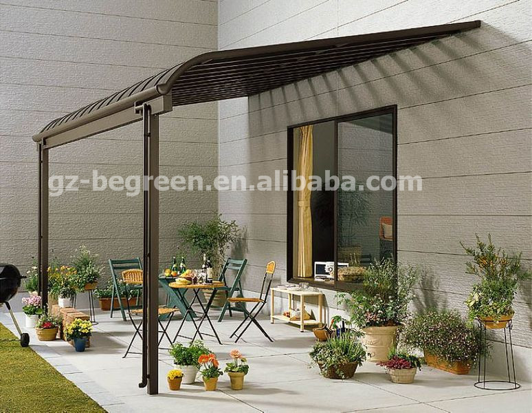 3 5 polycarbonat dach aluminium pavillon aluminium. Black Bedroom Furniture Sets. Home Design Ideas