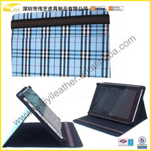 """7""""8""""9""""9.7""""10""""Tablet Case 2014 Hot Selling High Quality Cheap Grid Unique Exquisite PU Leather Case For Ipad Mini"""