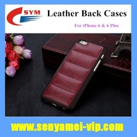 2015 New Design Body Armor Shockproof Back Cover Leather Case For iPhone 6 Plus 5.5 and 4.7