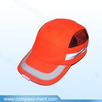 Orange Baseball Style New Mens LED Safety Helmet EN812