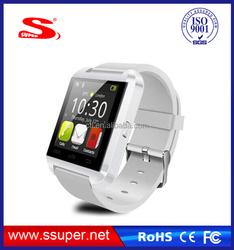2015 new products BT4.0+Aluminium Case+Sync phone cheap u8 bluetooth smart wrist watch phone